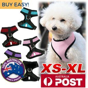 New Adjustable Mesh Pet Harness For Dogs  S, M, L